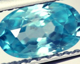BLUE ZIRCON FACETED STONE 0.85 CTS PG-881