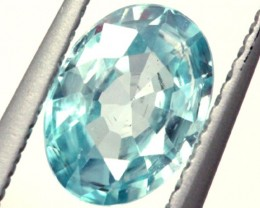 BLUE ZIRCON FACETED STONE 1 CTS  PG-1040