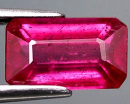 1.60 Carat Fiery Purple Pink Ruby - Hand held flashy, beauty