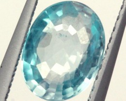 BLUE ZIRCON FACETED STONE 2 CTS PG-1025