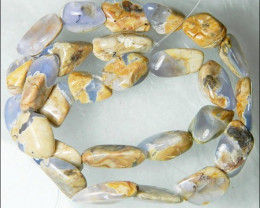 Natural Chalcedony In Matrix Tumbled Beads B855