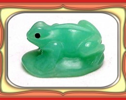 **27.2ct Tanzania Imperial Chrysoprase Carved Frog**