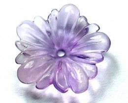 AMETHYST FLOWER CARVING GEM GRADE 6.50 CTS LT-239