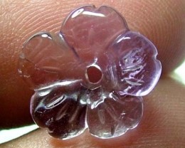 AMETHYST FLOWER CARVING GEM GRADE 3 CTS LT-240