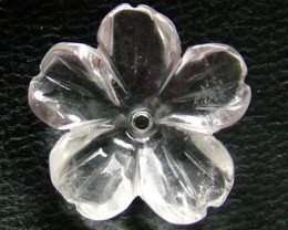 QUARTZ FLOWER CARVING GEM GRADE 6.50 CTS LT-248