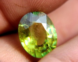 5.93 Carat Russia Sphene VS2 Rainbow Beauty