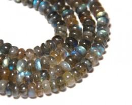 "LABRADORITE 7mm blue round beads 16"" lab007"