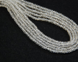 *NEW STOCK*  HARD TO FIND AAA GEM QUARTZ 3mm faceted beads