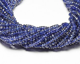 "NEW ITEM 13.5"" line  AA IOLITE Israeli beads 3.5-4mm"