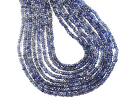 "*NEW STOCK* A Grade IOLITE Israeli Beads 13.5""  3-3.25mm"