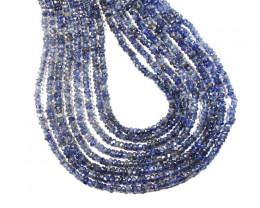 "*NEW STOCK* A Grade IOLITE Israeli Beads 13.5""  3-3.25mm"