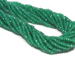 "Israeli GREEN ONYX beads 13.5""  2.5-3mm   GON001"