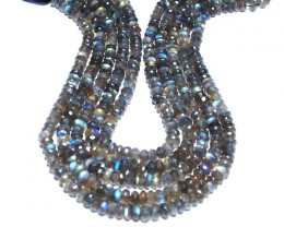 LABRADORITE faceted beads roundelles 10in 7mm AAA