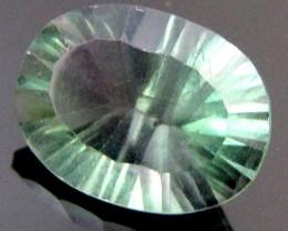 FLUROITE  GREEN PURPLE VEINS 11.55  CTS  RT 736
