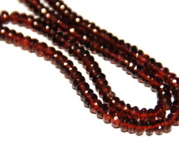"*NEW ARRIVAL* MOZAMBIQUE GARNET beads 4.5mm 15"" line"