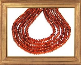 "*NEW STOCK*  AAA MOZAMBIQUE GARNET beads 3-3.5mm 14"" line"