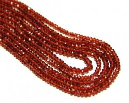 """*NEW STOCK*  AAA MOZAMBIQUE GARNET beads 3-3.5mm 14"""" line"""