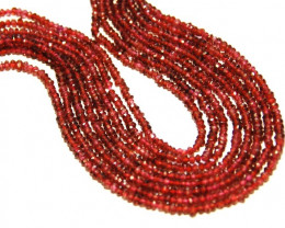"*NEW ARRIVAL*  MADRAS pink red GARNET 2.5-3mm 14"" line"