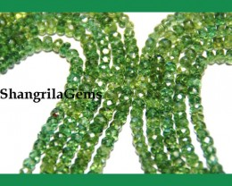 """GREEN APATITE FACETED beads AAA 3mm - 5mm 16"""" line"""