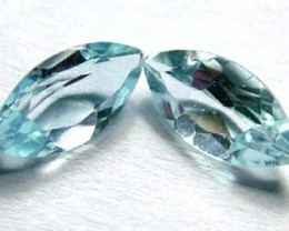 1.20 cts AQUAMARINE FACETED STONE (2 PC) PG-1098