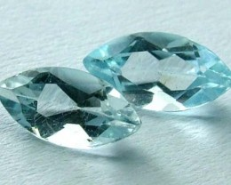 AQUAMARINE FACETED STONE (4 PC) 2.75 CTS PG-1096