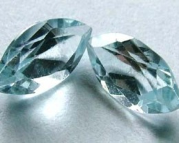 AQUAMARINE FACETED STONE (2 PC) 1.35 CTS  PG-1108