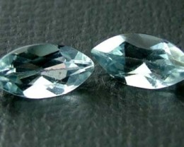 AQUAMARINE FACETED STONE (2 PC) 1.35 CTS   PG-1107