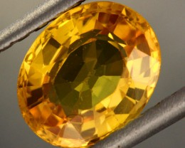 2.06 cts Certified Beautiful Yellow Sapphire (Y34979)