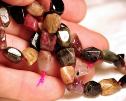 223 Tcw. Tourmaline Strand - Elegant, Fun, 16 inches - 12mm