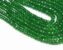 """2mm - 4mm 8"""" Tsavorite Garnet AAA green gemstone beads from Kenya TSA"""