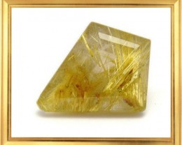 Designer cut GOLDEN RUTILATED or RUTILE QUARTZ 16.6ct