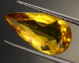 2.96 CTS CERTIFIED GOLDEN BERYL (HELIODORE) STONE [B35219]