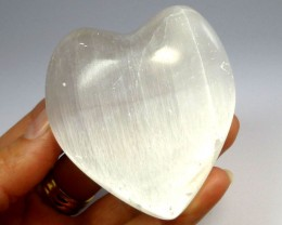SELENITE  LOVERS HEART  532  CARATS   RT1160