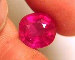 Fiery, Flashy Cherry Ruby, 7.73 Carats, Beautiful