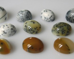 NICE PARCEL OF 10 DENDRITIC AGATES 21,07 CTS