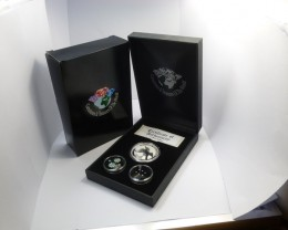 TREASURE SERIES DIAMONDS,OPALS,SILVER COIN  KM 03