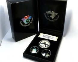 TREASURE SERIES DIAMONDS,OPALS,SILVER COIN  KM 05