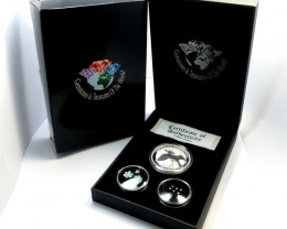 TREASURE SERIES DIAMONDS,OPALS,SILVER COIN  KM 07