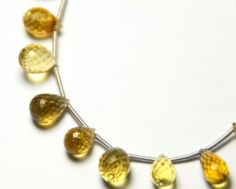 NEW ITEM   14 Citrine briolettes 9 to 10mm