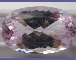 STUNNING CUSHION CUT 14.55CT SOFT PINK KUNZITE-CERTIFIED!!
