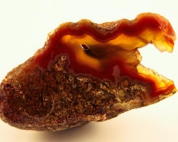 BEAUTIFUL AGATE GEODE MEXICO 58CT JW-54