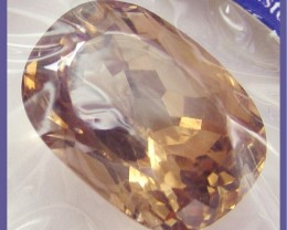 CERTIFIED 17.86CT GORGEOUS CHAMPAGNE APRICOT  TOPAZ !!