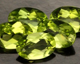2.41 CTS PARCEL OF 5 PERIDOT GEMS (SB218)