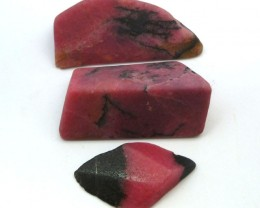 3 X AUSTRALIAN RHODONITE TAMWORTH 569 CARATS RT 1546