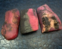 3 X AUSTRALIAN RHODONITE TAMWORTH  689  CARATS RT 1550