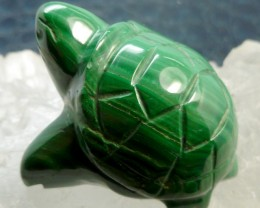 MALACHITE TURTLE CARVING 216.75 CARATS  RT 1648