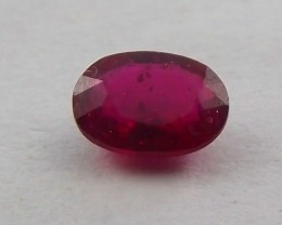 1.05ct Purple/Red Ruby from Madagascar