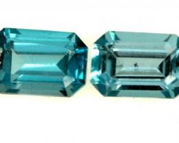 BLUE TOPAZ NATURAL FACETED (2PCS) 1.40 CTS PG-872