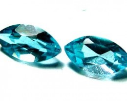 BLUE TOPAZ NATURAL FACETED (PAIR) 1.50 CTS  PG-1160