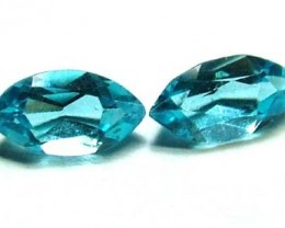 BLUE TOPAZ NATURAL FACETED (PAIR) 1.30 CTS   PG-1112